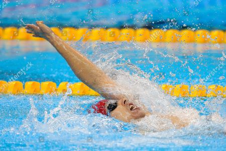 World Record holder Jonathan Fox of Great Britain gets the Silver Medal in the Men's 100m Backstroke S7 Final.
