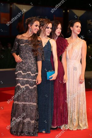 Stock Image of Marta Gastini, Guest, Laura Adriani and Caterina Le Caselle