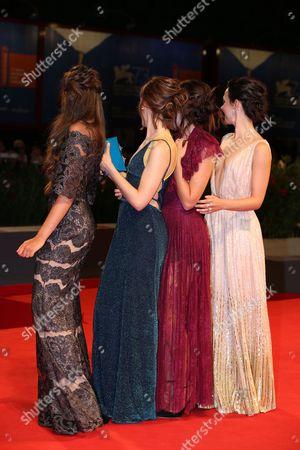 Stock Image of Marta Gastini, Guest, Laura Adriani and Caterina Le Caselle