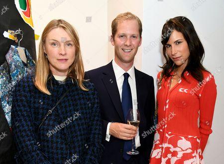 Stock Photo of Lady Laura Burlington, George Percy and Caroline Sieber