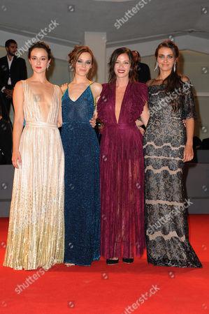 Marta Gastini, Guest, Laura Adriani and Caterina Le Caselle
