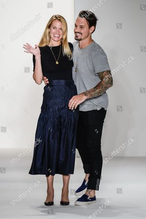 Designers Laura Vassar and Kristopher Brock on the catwalk