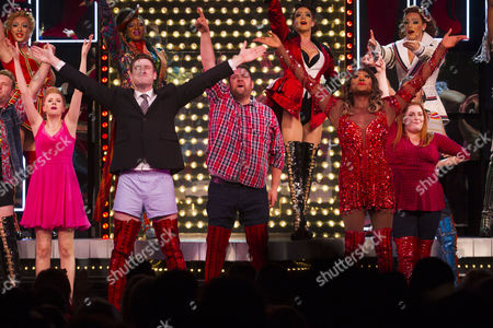 Elena Skye (Lauren), David Hunter (Charlie Price), Alan Mehdizadeh (Don), Matt Henry (Lola) and Melissa Jacques (Trish) during the curtain call