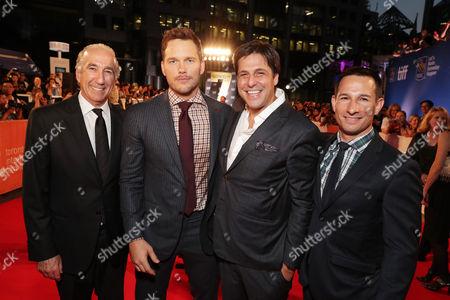 Gary Barber, Chris Pratt, Jonathan Glickman, Adam Rosenberg