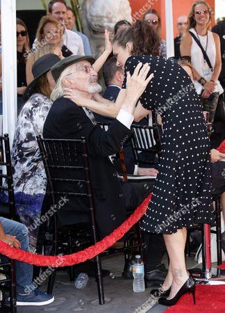 Martin Landau and Winona Ryder