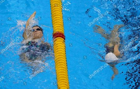 Jessica Long Jessica Long of the U.S., left, swims during a warm up session before the swimming competitions at the Rio 2016 Paralympic Games in Rio de Janeiro, Brazil