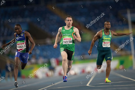 Jason Smith Irish athlete Jason Smith, center, runs to win the second heat of the men's 100-meter T13 athletic event of the Rio Paralympic games in Rio de Janeiro, Brazil