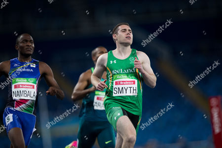 Jason Smith Irish athlete Jason Smith, right, runs to win the second heat of the men's 100-meter T13 athletic event of the Rio Paralympic games in Rio de Janeiro, Brazil