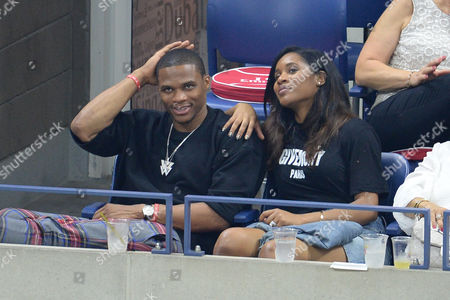 Stock Photo of Russell Westbrook and Nina Earl