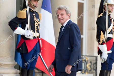 Former French Minister for Foreign Affairs Bernard Kouchner, arrives at the Elysee presidential palace