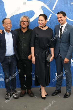Lav Diaz, Charo Santos-Concio and John Lloyd Cruz