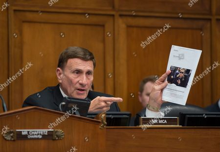 Stock Picture of John Mica House Oversight and Government Reform Committee member Rep. John Mica, R-Fla. questions a witness on Capitol Hill in Washington, during the committee's hearing on 'Examining FOIA Compliance at the Department of State