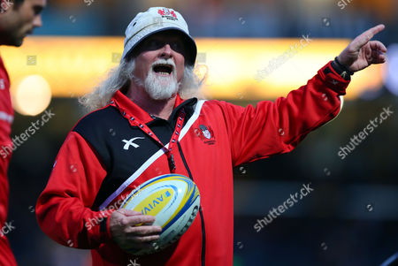 Gloucester head coach Laurie Fisher during the Aviva Premiership Rugby match  between Worcester Warriors and Gloucester played at Sixways Stadium, Worcester on 9th September 2016