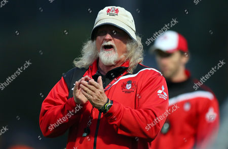 Stock Photo of Gloucester head coach Laurie Fisher during the Aviva Premiership Rugby match  between Worcester Warriors and Gloucester played at Sixways Stadium, Worcester on 9th September 2016