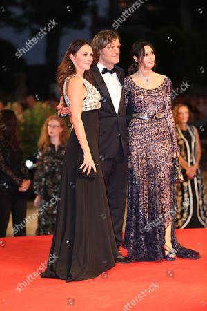 Sloboda Micalovic and Emir Kusturica and Monica Bellucci