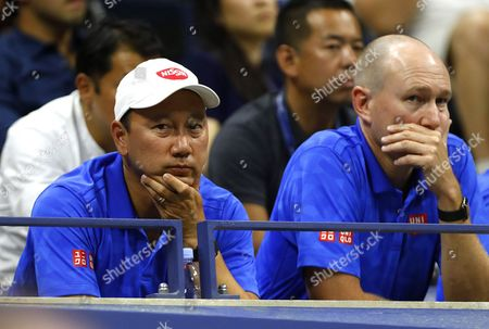 Michael Chang, coach of Kei Nishikori of Japan, during the US Open 2016 at the Billie Jean King Tennis Centre, Queens, New York on the 8th September 2016