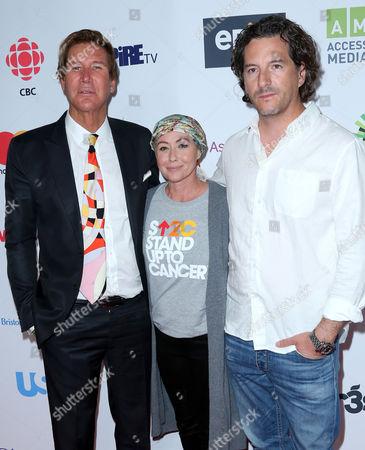 Stock Photo of Shannen Doherty and Kurt Iswarienko and guest