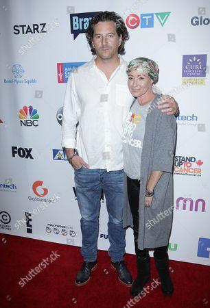 Stock Picture of Shannen Doherty and Kurt Iswarienko
