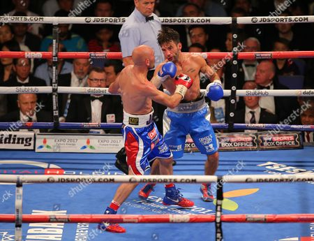 Lee Haskins and Stuart Hall   fight  at  The O2 Arena , Peninsula Square London  on 10th September 2016