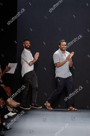 Stock Photo of Ryan Lobo and Ramon Martin on the catwalk