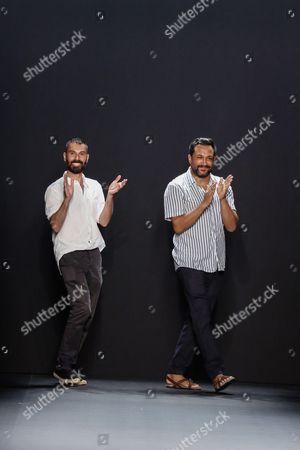 Ryan Lobo and Ramon Martin on the catwalk