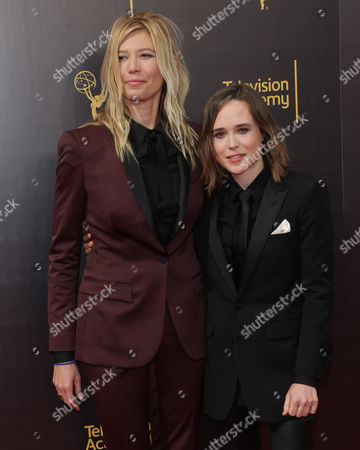 Stock Picture of Ellen Page and Samantha Thomas