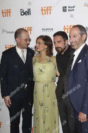 (L-R) Darren Aronofsky, Natalie Portman, Pablo Larrain and Noah Oppenheim