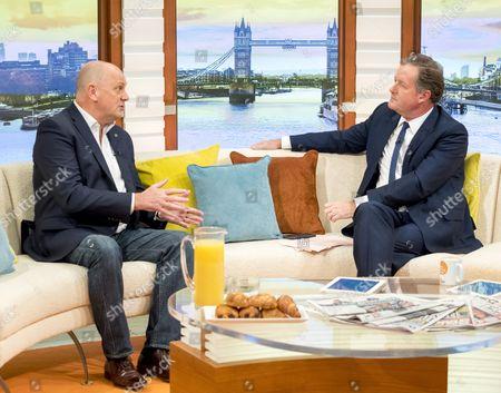 Jim Gamble and Piers Morgan