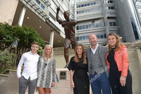 Editorial photo of Football - Alan Shearer Statue Unveiling St. James' Park, Barrack Rd, Newcastle upon Tyne, United Kingdom - 12 Sep 2016