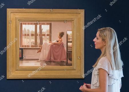 Jack Vettriano. Model in White. Est: £40,000-60,000