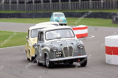 Stock Photo of Karun Chandhok in Austin A35 - St Mary's Trophy.