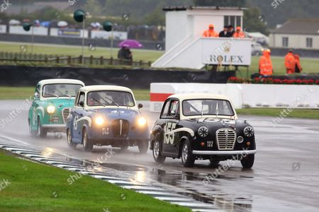Tiff Needell in an Austin A35 during St Mary's Trophy Part 1.