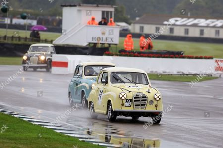 David Brabham in an Austin A35 during St Mary's Trophy Part 1.