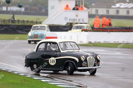 Stuart Graham in an Austin A35 during St Mary's Trophy Part 1.