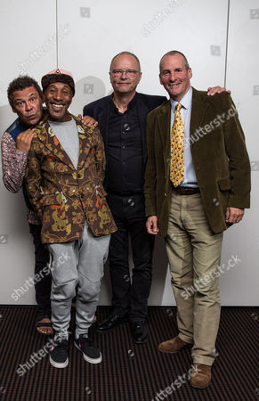 Stock Photo of Craig Charles, Danny John-Jules, Robert Llewellyn and Chris Barrie