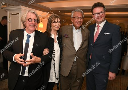 Frank Cohen, Cheryl Cohen, Sir David Tang and Ewan Venters