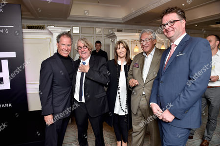 Viscount David Linley, Frank Cohen, Cheryl Cohen, Sir David Tang and Ewan Venters