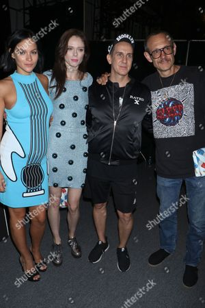 Leigh Lezark, Coco Rocha, Jeremy Scott and Terry Richardson backstage