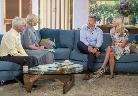 Phillip Schofield and Holly Willoughby with Neil Fox and wife Vicky
