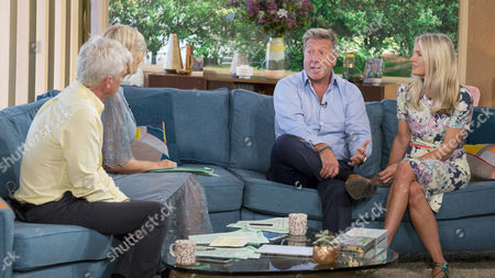 Stock Picture of Phillip Schofield and Holly Willoughby with Neil Fox and wife Vicky