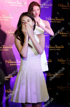 Editorial image of Bae Su-ji wax figure at Madame Tussauds, Hong Kong, China - 13 Sep 2016