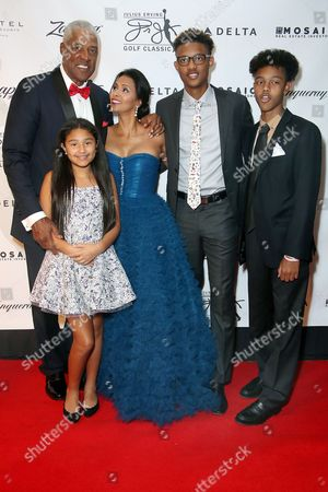 Julius Erving and family