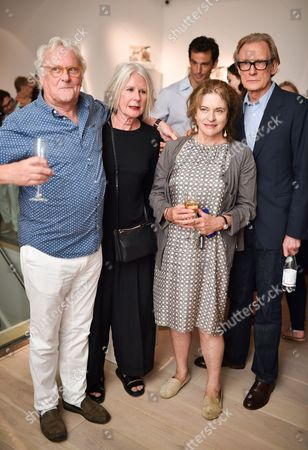 Guest, Betty Jackson Diana Quick and Bill Nighy