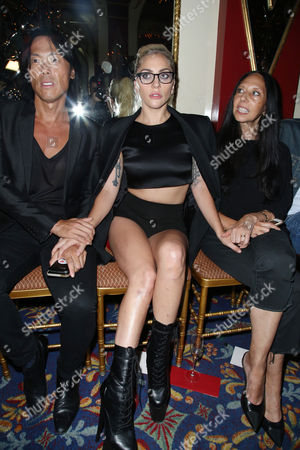 Stephen Gan, Lady Gaga and guest in the front row