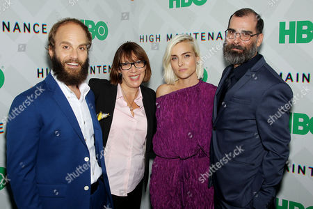 Stock Photo of Ben Sinclair (Creator, Exec Producer), Nina Rosenstein (EVP, HBO Programming), Katja Blichfeld (Creator, Exec Producer), Russell Gregory (Exec Producer)