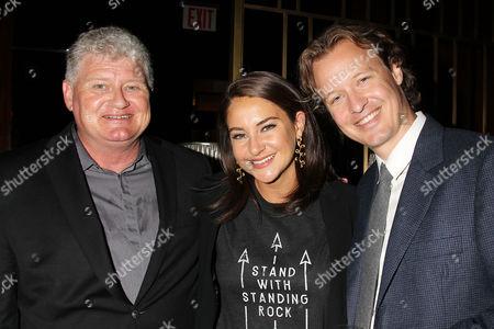 Lon Snowden, Shailene Woodley and Kieran Fitzgerald