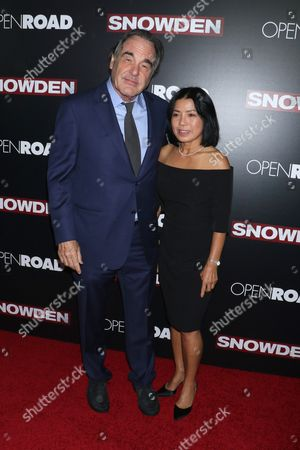 Oliver Stone and wife Sun-jung Jung