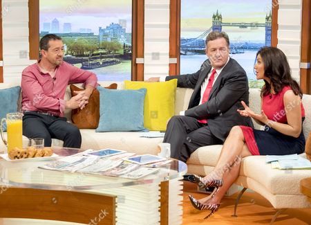 Chris Boardman with Piers Morgan and Susanna Reid
