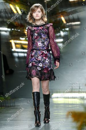 Stock Photo of Peyton Knight on the catwalk