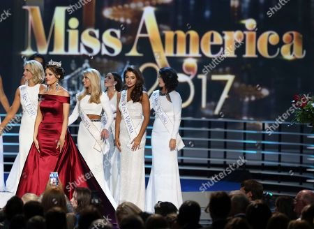 Betty Cantrell The outgoing Miss America, Betty Cantrell, second left, stands with contestants during the Miss America 2017 pageant, in Atlantic City, N.J